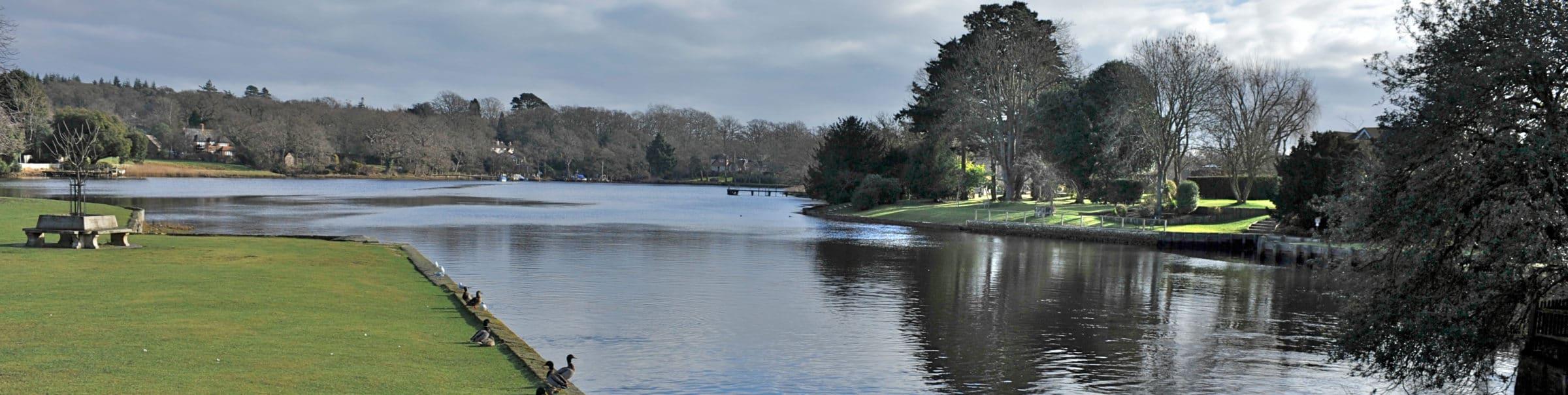 Beauleu River by weir