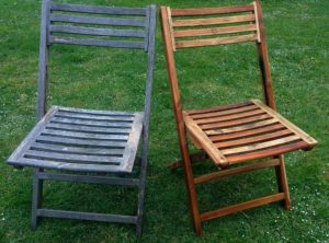 Chair Treated with Teak Oil